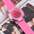 2017 Новая Мода Девушки Женщин часы Силиконовой Лентой Цифровой СВЕТОДИОДНЫЙ Наручные Часы Спортивные Часы Повседневная relógio feminino
