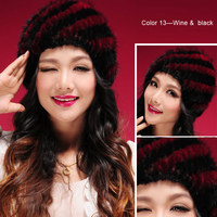 натуральный мех норки шапка шапочка лыж крышка головки теплее головные уборы горячие череп женщин шляпа зимой хороший подарок 13603