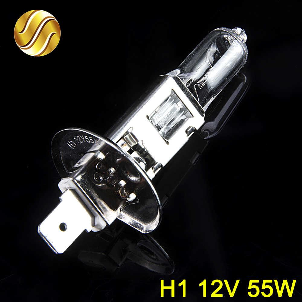 Hippcron автомобильных фар супер яркие галогенные лампы 1 шт. H1 H3 H4 H7 H8 H11 9005 HB3 9006 HB4 12 V 4000 к прозрачные Противотуманные фары дальнего света