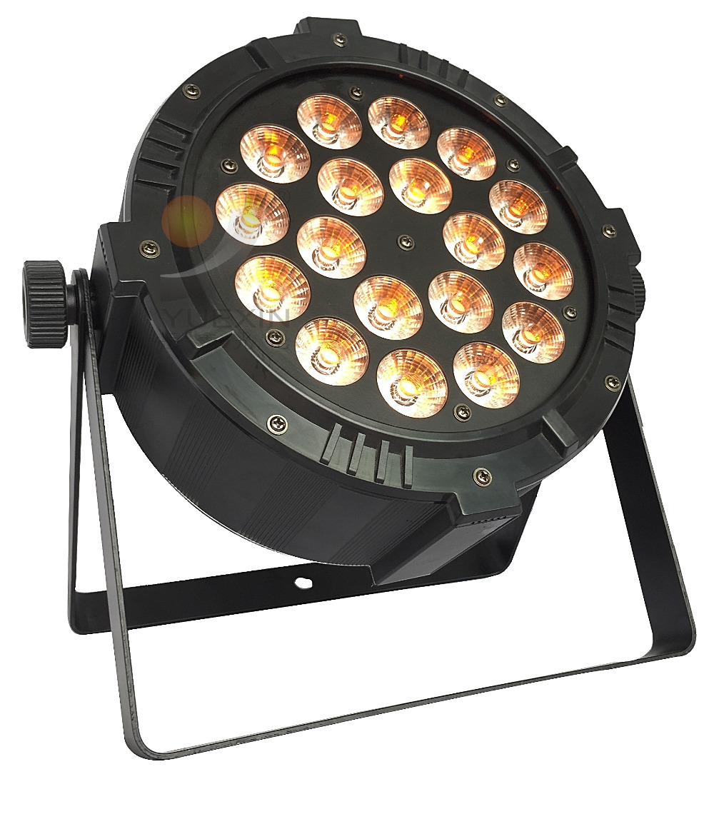 18x12W 5in1 Aluminium Slim Theater Stage Lights LED Flat Par Light DJ Led Home party Par64 Effect Event Wedding Disco Show co2 handhold cannon dj co2 gun for wedding party stage effect lights handhold stage co2 gun with 6meter hose
