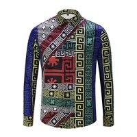 2018 Mới Thời Trang Nam Shirts 3d In Letter S & T mẫu Dài Tay Áo Giản Dị Shirts Vui Sơ Mi cho Nam Giới Nút Bao M ~ XXL