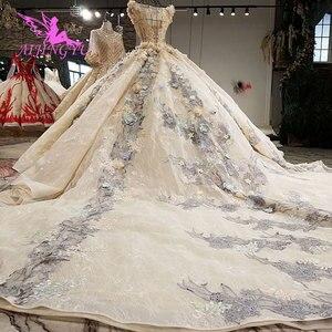 Image 5 - AIJINGYU צינור שמלות כלה הודי כלה שמלה סקסי שמלות קייפ ארוך אירוסין שמלת קצוץ קלאסיים