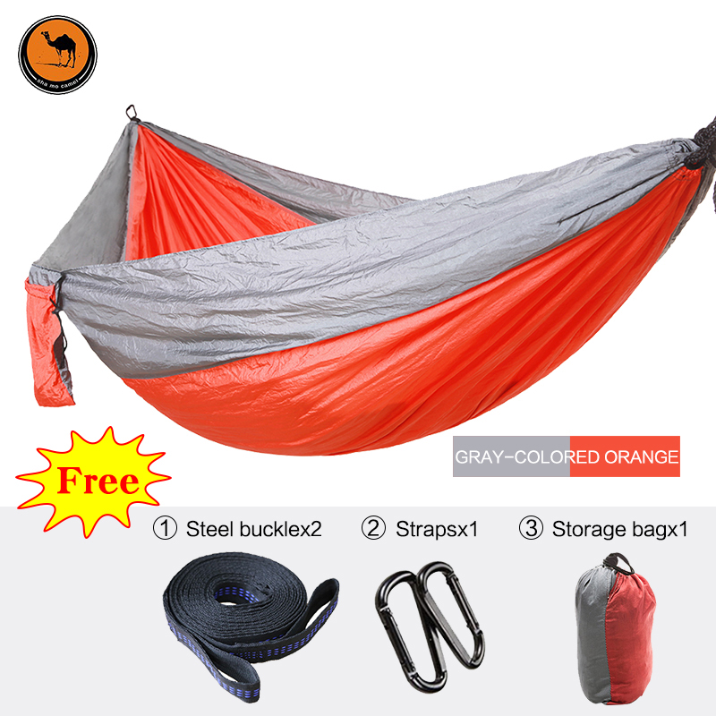 Double People Hammock Camping Survival Garden Hunting Swing Leisure Travel Double Person Portable Parachute Outdoor Furniture 300 200cm 2 people hammock 2018 camping survival garden hunting leisure travel double person portable parachute hammocks