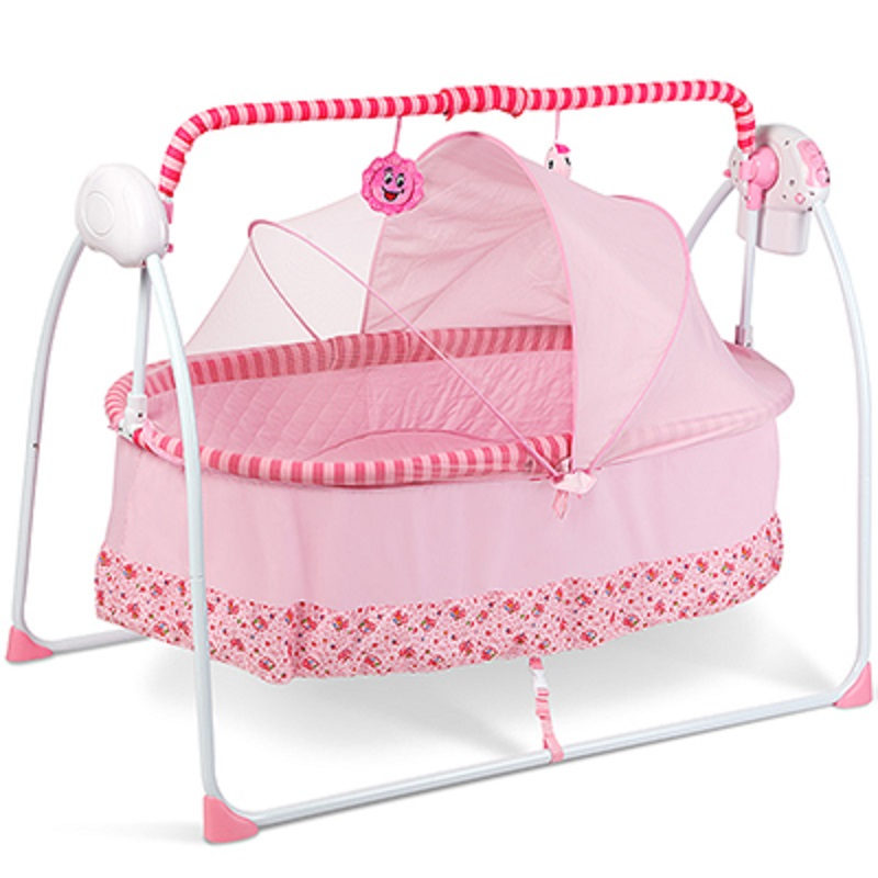 Berceau Real 2017 New Model Primi Auto-swing Baby Cradle Electricity Big Space With Mattress Bluetooth And Newborn Sleeping Bed 2017 new babyruler portable baby cradle newborn light music rocking chair kid game swing