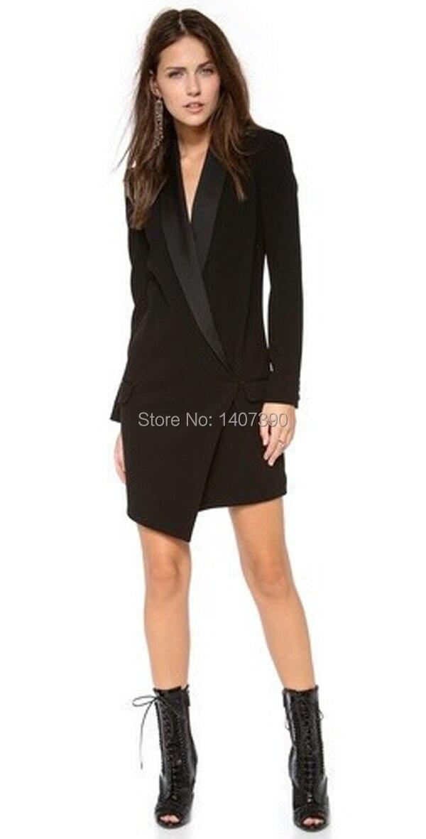 Sexy Women Black White Pencil Suit Dress Celebrity Long Sleeve ...