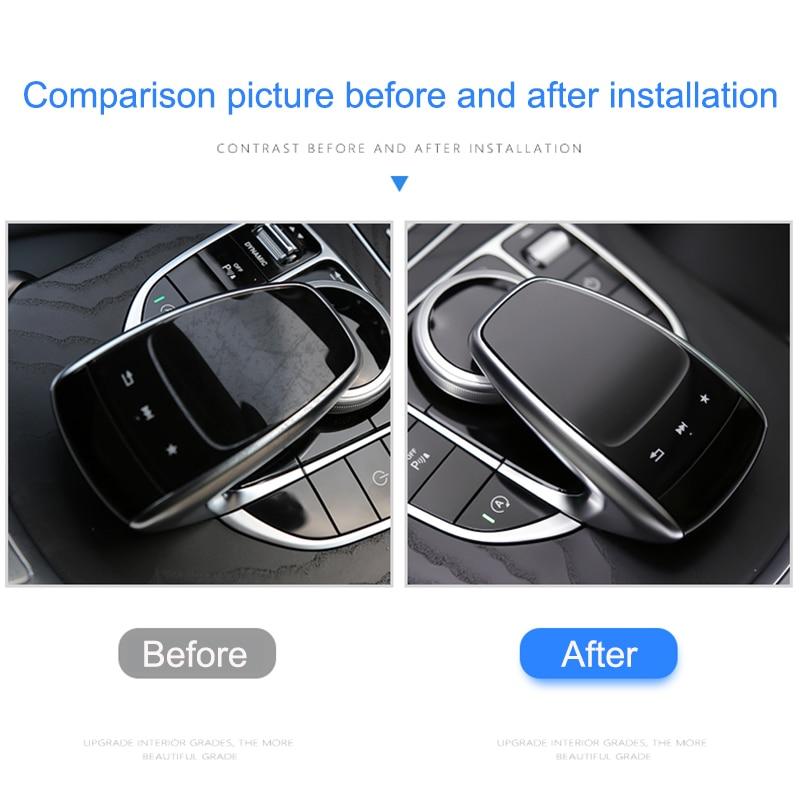 Для Mercedes Benz центральная консоль мышь сенсорная защитная пленка подходит для Mercedes Benz C E S V GLC GLE Class автомобильные аксессуары TPU