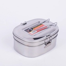 Best Quality Stainless Steel Square Lunch Box Bento Food Picnic Container Travel 2 Layer