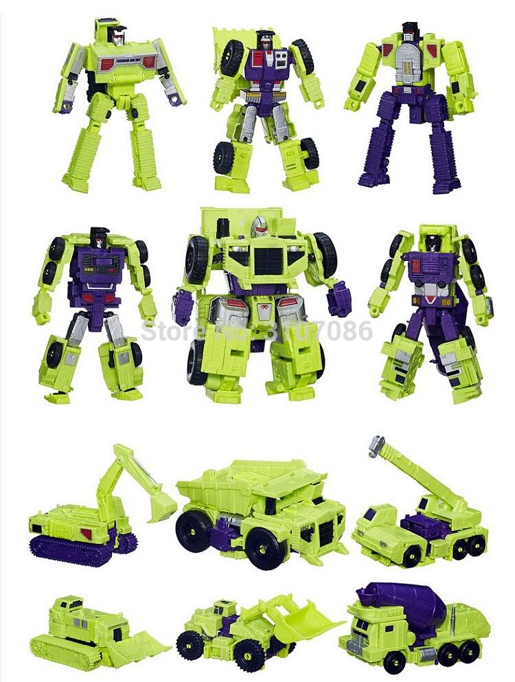 Hzx 변환 devastator g1 idw 6in1 특대 액션 피규어 로봇 완구 폼 박스-에서액션 & 장난감 숫자부터 완구 & 취미 의  그룹 3