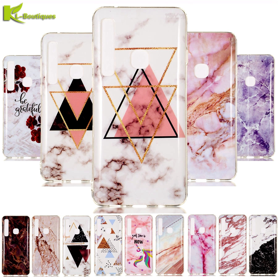 <font><b>A72018</b></font> Marble Case on sFor Coque Samsung Galaxy A7 2018 A750 Case Soft Silicone Cover for Funda Samsung A9 2018 A920 Phone Cases image