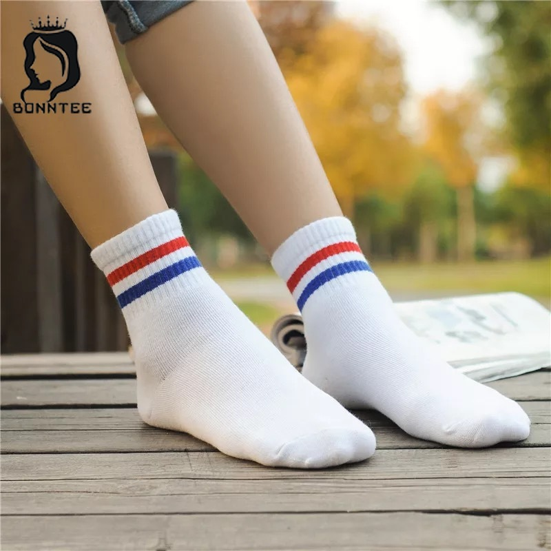 Striped Harajuku Funny   Socks   Women Breathable Kawaii High Elasticity Female Couples Cute   Sock   Womens Deodorant Females Fashion