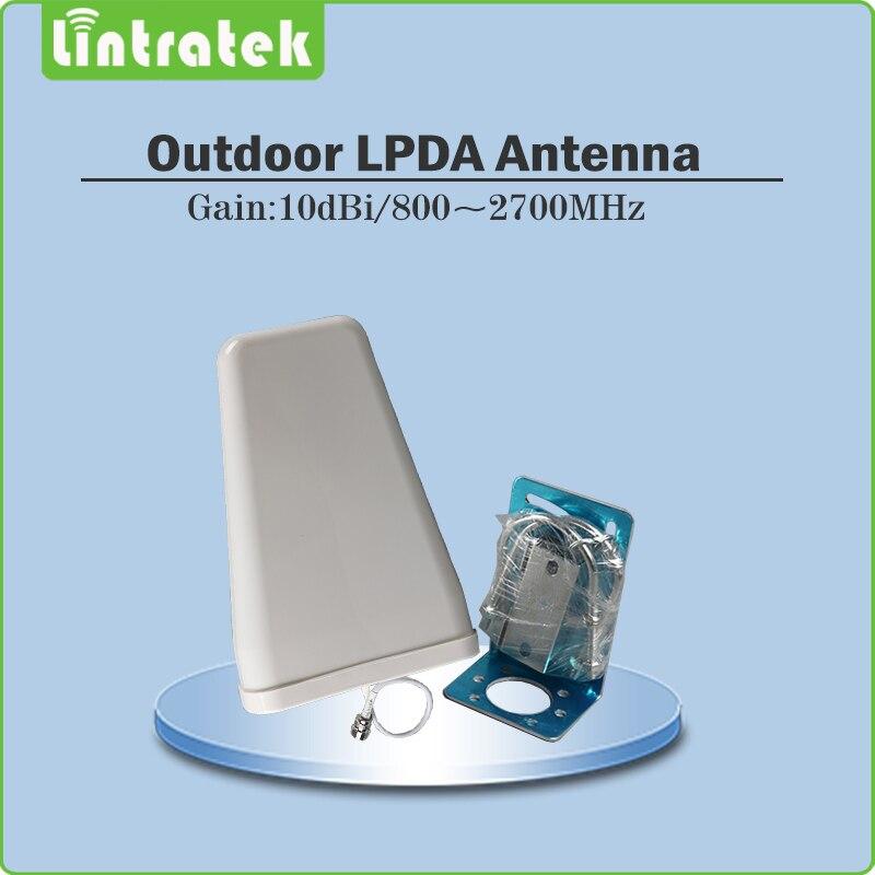 Répéteur Lintratek 4G Gain 70dB répéteur de Signal de téléphone 4G LTE 2600 mhz (bande LTE 7) amplificateur de Signal Mobile amplificateur complet @ 68 - 4