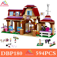 Sermoido 10562 Friends Heartlake Riding Club Horse Stables Block Set Mia Stephanie Girls Toys Compatible With