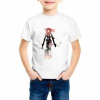 Children cartoon hand-painted T-shirt black widow T shirts Super hero series Boys and girls Top Hot Sale Brand clothing C17-1