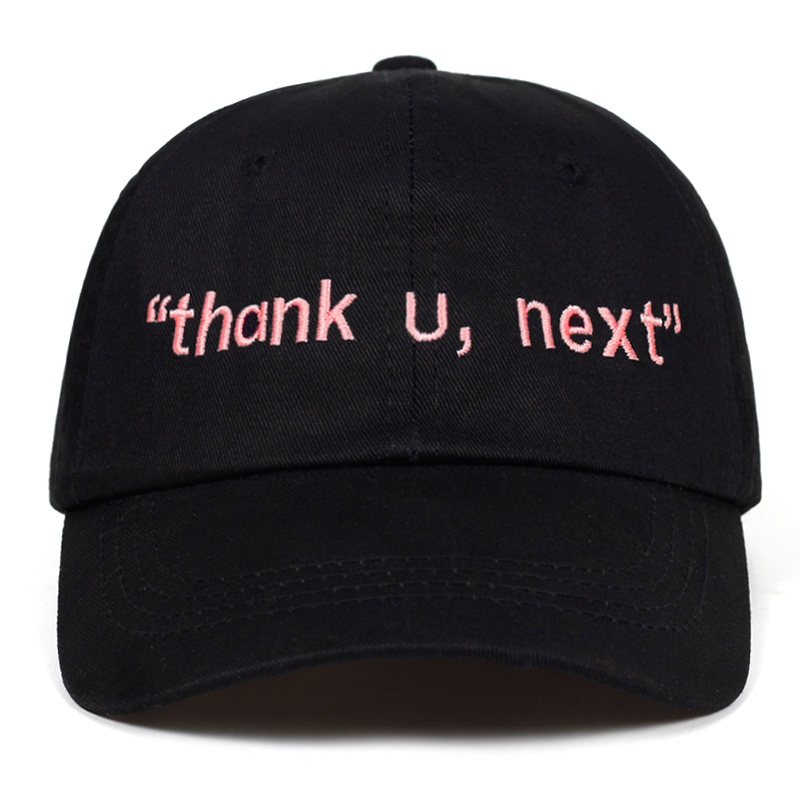 2019 new Thank U,Next   Baseball     Cap   Ariana Grande Embroidery Dad Hat Unisex Women Man hip hop   caps   Latest album Snapback hats