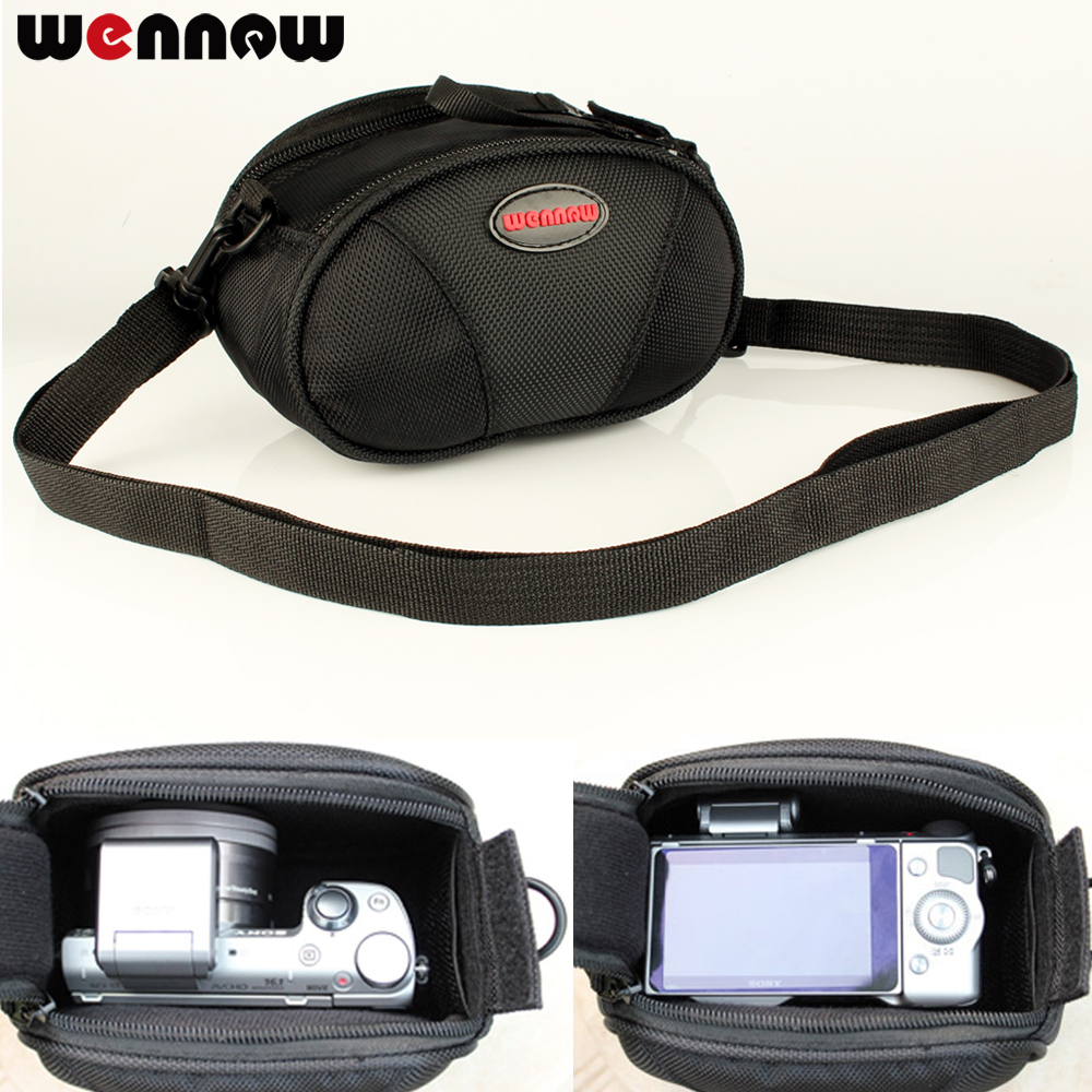 wennew Shoulde Camera Bag Case for <font><b>Sony</b></font> <font><b>alpha</b></font> a6500 a6300 a6000 a5100 <font><b>a5000</b></font> NEX-6 NEX-7 NEX-5T NEX-5N NEX-3N NEX-5R 16-50mm Lens image