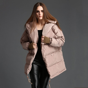 duck down jacket women winter women's down jackets loose down coat hooded thickened down coats woman OYG-0165