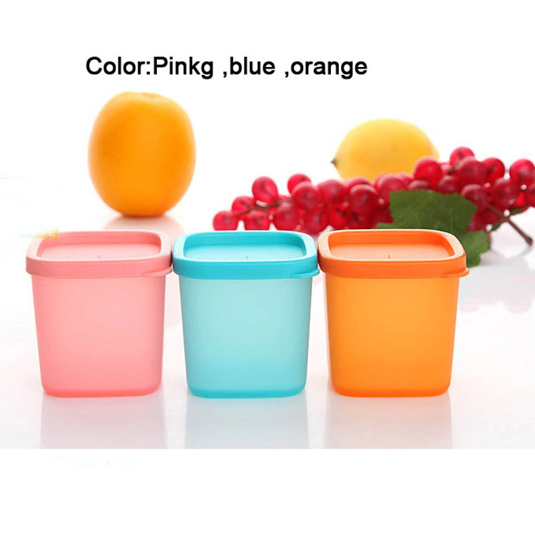 Candy color baby food storage,PE snacks cup biscuit cups ,baby food box ,9pcs/lot ...