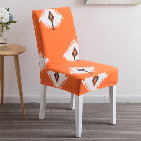 1PC Flower Printing Removable Chair Cover Stretch Elastic Slipcovers Restaurant For Weddings Banquet Folding Home Chair Covering Lahore