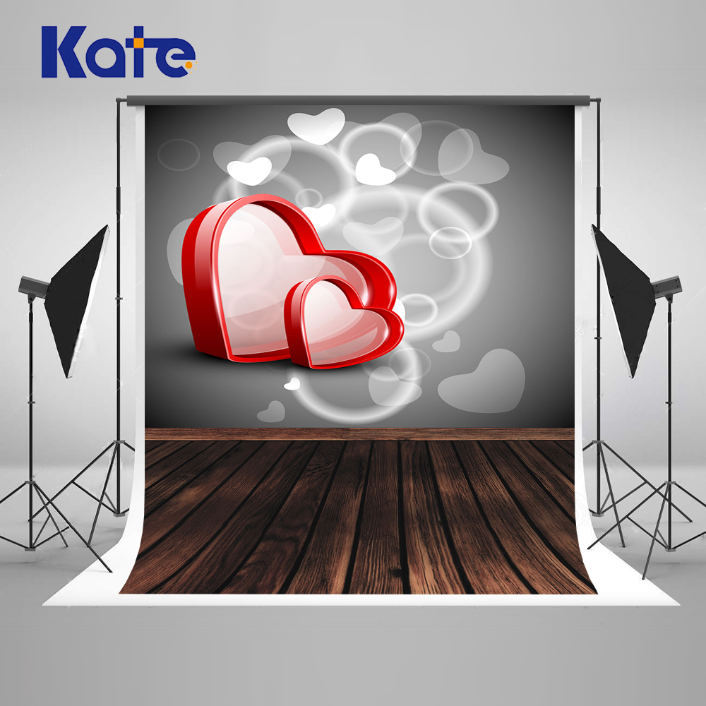 Kate 5x7ft Grey Wedding Photography Backdrop Wood Floor Photo Background Love Heart Microfiber Background Fotografia kate photo background scenery