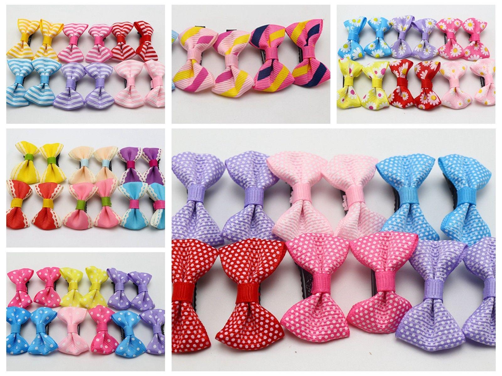 "24pcs Baby Girl Kid Hair Clips Bow Bands Hairpin Alligator Ribbon Grosgrain 3.5/"""