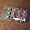 Nueva carpeta de la llegada The Walking Dead carteras cortas con tarjeta titular hombres y mujeres del monedero carpeta de la historieta del precio del dólar