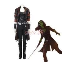 Cafiona Guardians of The Galaxy 2 Cosplay Costume Women Gamora Cosplay Costume For Halloween Women Full Set Custom Made