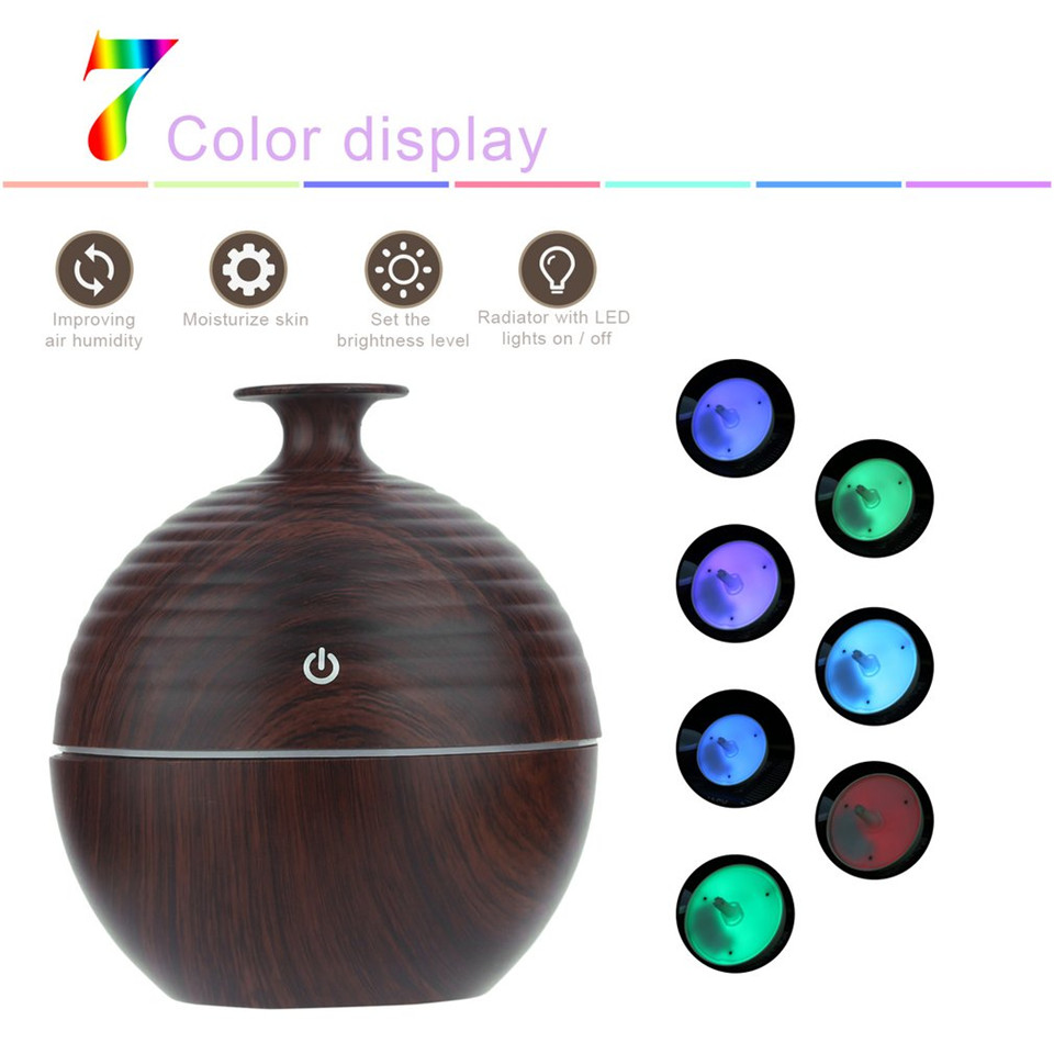 130ML Aroma Essential Oil Diffuser Home Office Yoga Cool Mist Atomization Humidifier Air Purifier Umidificador LED 7Color Change aroma diffuser 130ml