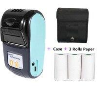 GOOJPRT – Mini imprimante thermique Portable sans fil, 58mm, port USB, pour tickets de caisse, pour Restaurant, supermarché, magasins électroniques, prise EU US UK