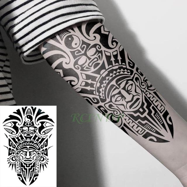 Impermeable Etiqueta Engomada Del Tatuaje Temporal Genial Tótem