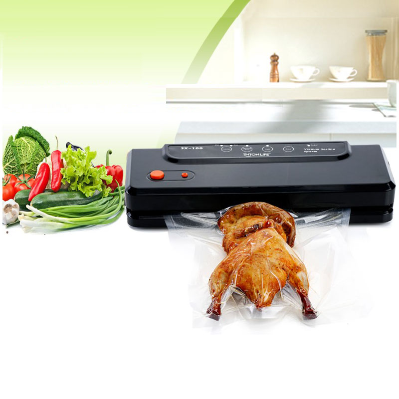 Household Multi-function Vacuum Sealer Automatic Vacuum Sealing System Keeps Fresh up to 7x Longer Vacuum Sealing Packer household vacuum packaging sealing machine sealer wet and dry use 30cm 110w 220v
