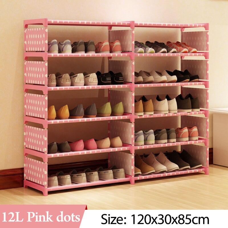 Image 4 - 5 слоев 10 сетчатый стеллаж для обуви из нетканого материала в сборе обувной шкаф для дома, гостиной, мебели, органайзер для обуви, шкаф для хранения-in Обувные шкафы from Мебель on AliExpress