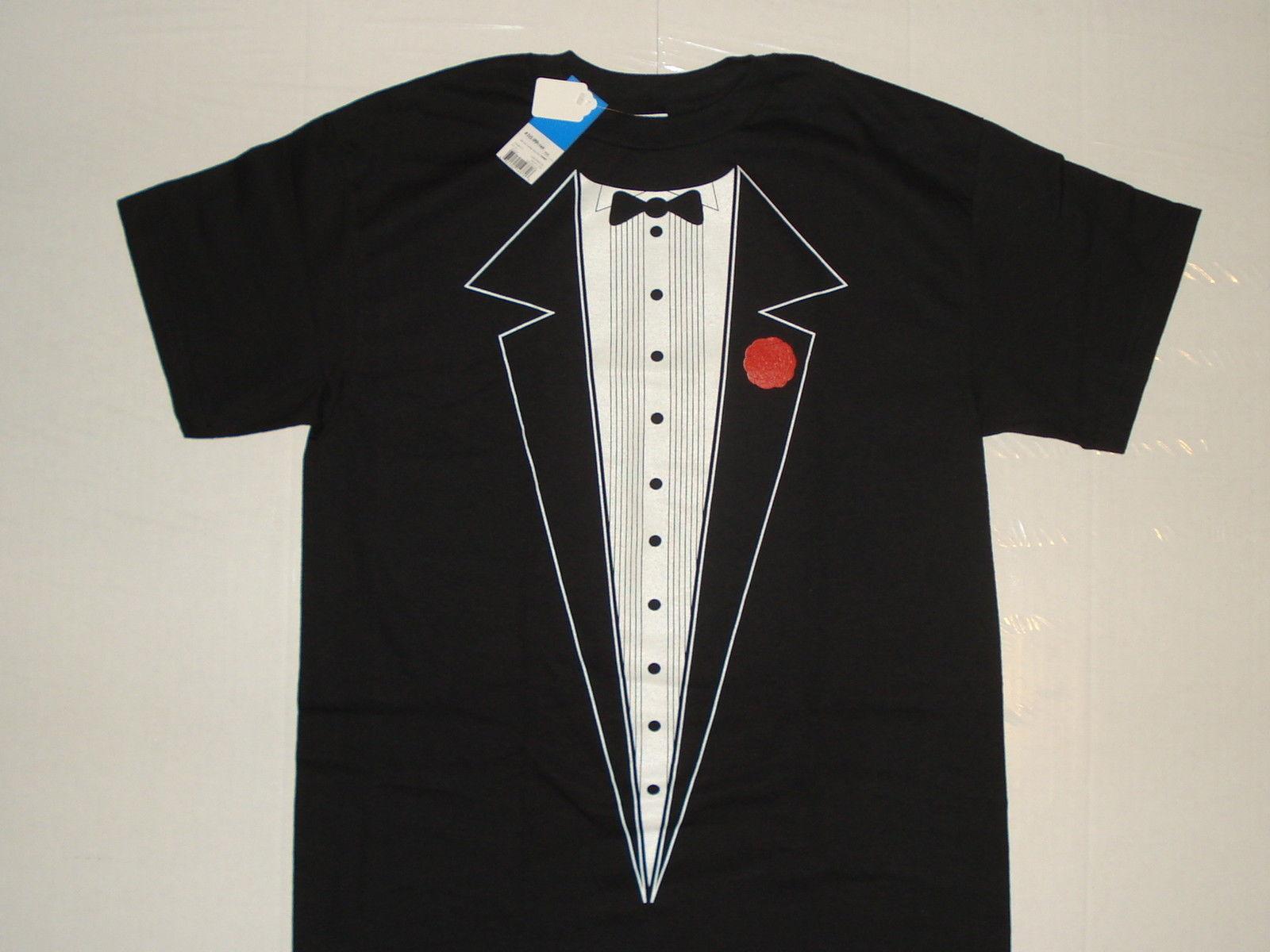 FUNNY TUXEDO ROSE 80s RETRO NEW T-SHIRT S M L XL 2XL PUNK EMO GOTH HUMOR JOKE T Shirt Casual Men Clothing T Shirt Fashion