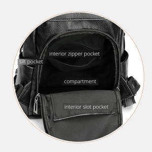 Image 4 - POMELOS Women Backpack High Quality Soft PU Leather Anti Theft Backpack For Women Waterproof Backpack Woman Street Style Bagpack