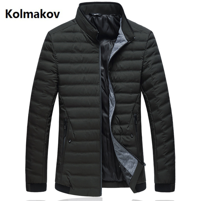 2018 new arrival style Men's Stand collar down jacket mens high quality 90% white duck down coats men fashion jacket men L-7XL