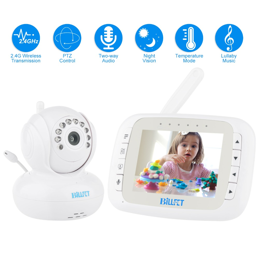 3.5LCD Digital Wireless Video Baby Monitors Infrared night vision babyfoon camera Remote ...