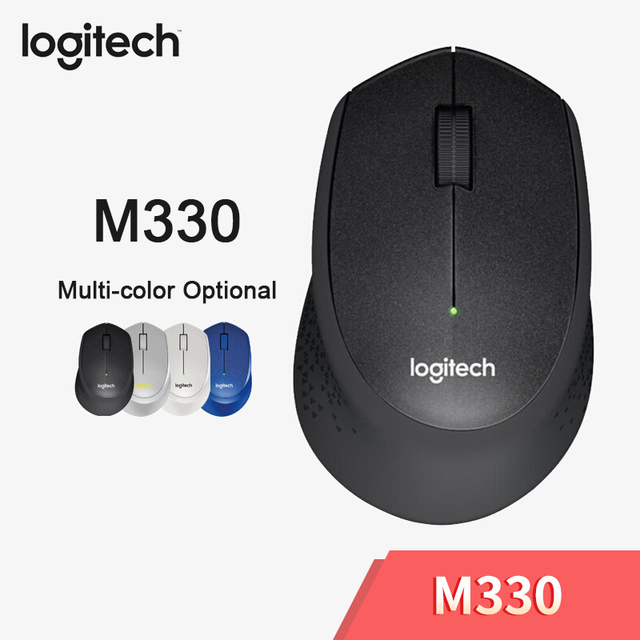 Logitech M330 Wireless Mouse Silent Mouse with 2.4GHz USB 1000DPI Optical Mouse for Office Home Using PC/Laptop Mouse Gamer 1