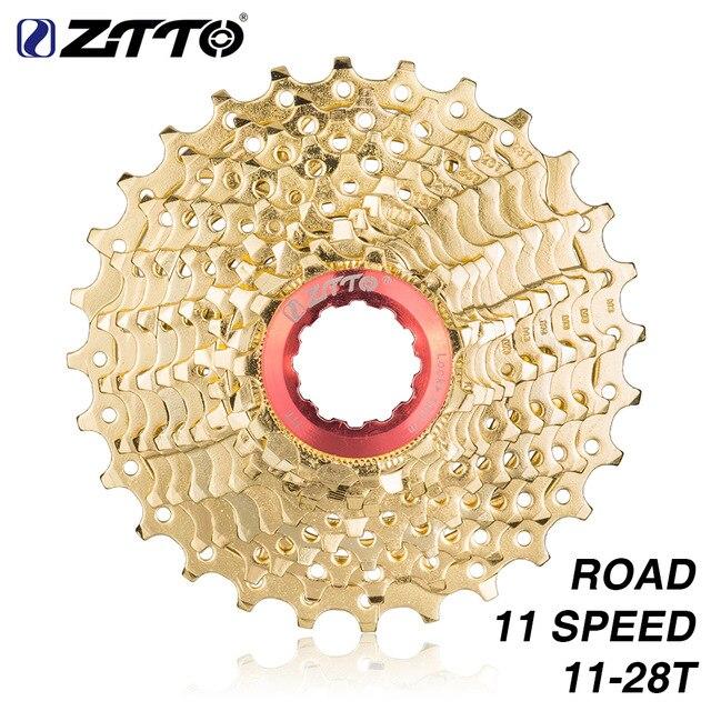 ZTTO Racefiets 11s28T Golden 22 Speed Freewheel Gouden Cassette Tandwiel 11 28 t voor k7 rivaal