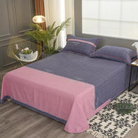 Bed sheet monopoly bedding set All cotton bed sheet Sanding Double color matching sheet 180cmx230cm/250cmx250cm/250cmx270cm