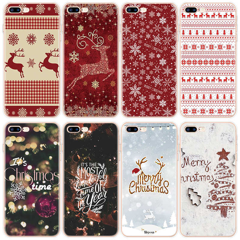 Capa para iphone 11 pro max 6 s 7 8 plus x xr 5 5S se caso para iphone 7 plus natal ano novo veados tpu capa para iphone xs max