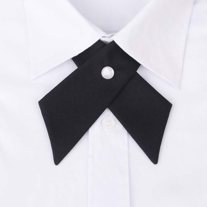 Awaytr Frauen Kurze Krawatten Striped Krawatten Business Casual Krawatte Formale Kleid Männer Hochzeit Metall Kragen Kreuz Krawatte Damen-accessoires Bekleidung Zubehör