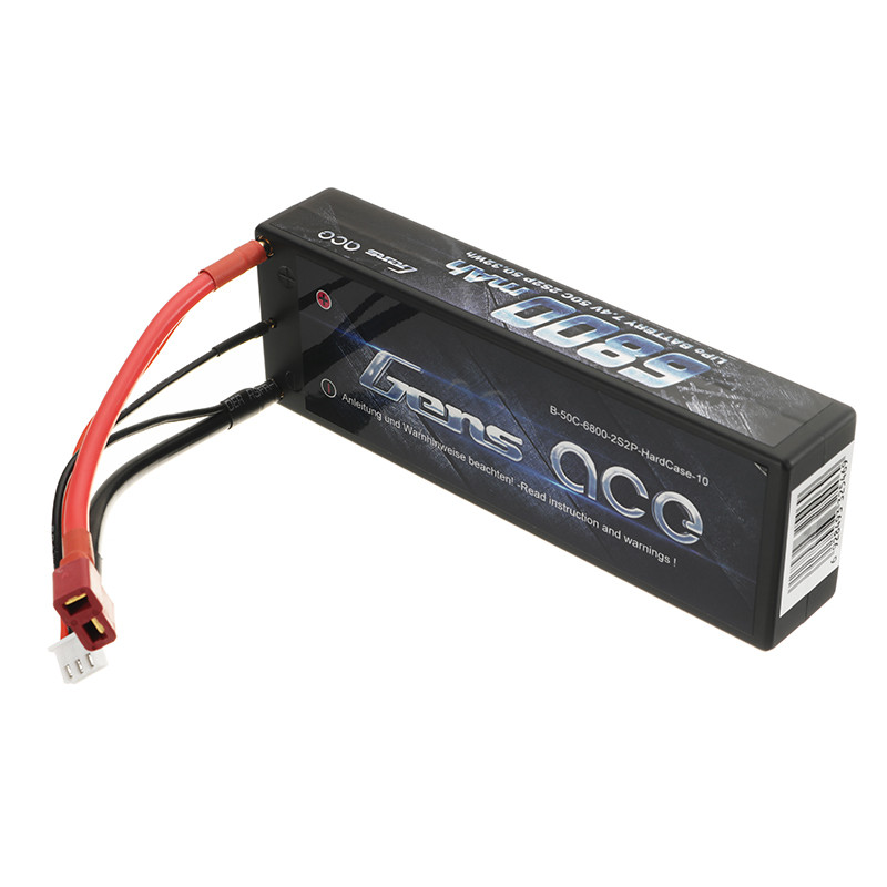 High Quality Gens Ace 7.4V 6800mah 50C 2S Rechargeable Lipo Battery T Plug for 1/8 1/10 RC Car FPV Racing Drone Spare Parts