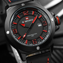 Haut De Luxe Marque NAVIFORCE Hommes Sport Montres Militaire Quartz-montre Date Horloge Étanche Montre-Bracelet en cuir Relogio Masculino