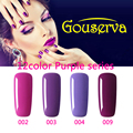 Hot Sale Healthy and Eco-friendly12Color 8ml Purpie Series Gel Nail Polish Soak Off Gel Lucky UV Nail Varnish Gouserva