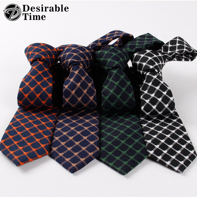 Mens skinny plaid ties striped cotton jacquard neck tie british mens skinny plaid ties striped cotton jacquard neck tie british style new casual accessories men black ccuart Gallery