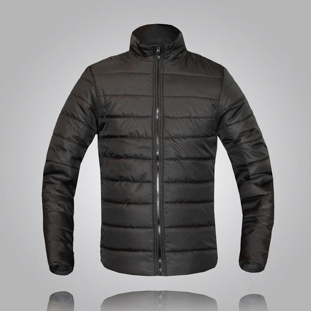 Chegam novas outono e inverno vestido cor sólida e stand colarinho fino de algodão acolchoado jaqueta men 10 cores tamanho m-3xl MF1