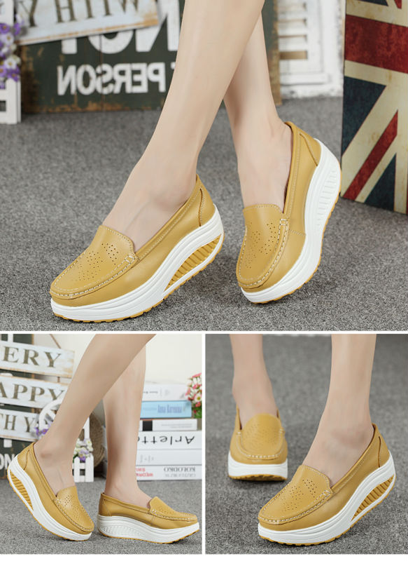 New Womens Shake Shoes Lady Genuine Leather shoes (34)