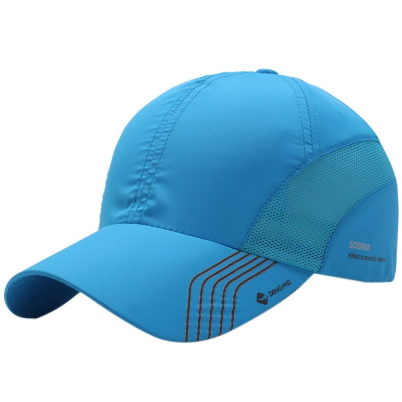 2018 Summer Men's Quick-Drying Mesh Hat Outdoor Hiking Cycling Baesketball Golf Tennis Sports Cap Breathable Cap new children s tennis badminton dress girls breathable quick drying summer tennis suit sports dress with short pants