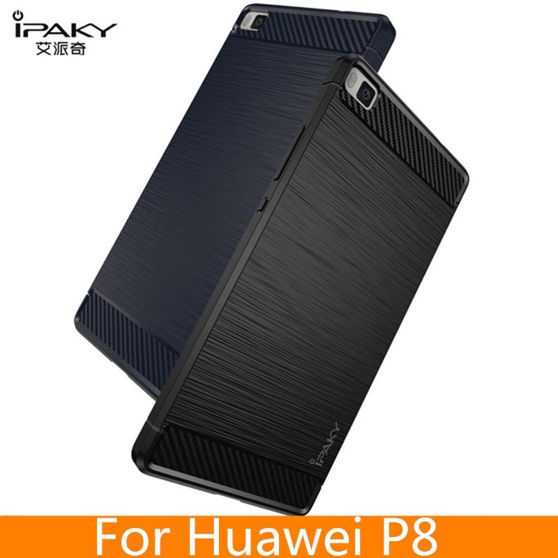 för Huawei P8 Väska Original IPAKY Silikon Kolfiber Hybrid - Reservdelar och tillbehör för mobiltelefoner - Foto 1