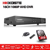 16 канальный AHD DVR 1080 P DVR 16CH AHD AHD H 1920*1080 2.0MP видеонаблюдения видеорегистратор DVR NVR CVI TVI HVR 5 в 1 системы безопасности