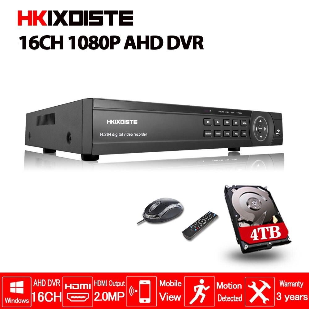 16 canais AHD AHD DVR 1080 p DVR 16CH AHD-H 1920*1080 2.0MP CVI CCTV Video Recorder DVR NVR sistema de Segurança HVR 5 Em 1 TVI